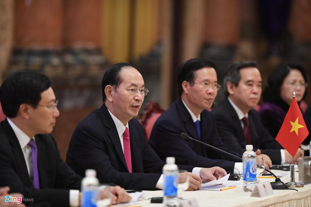 Tong Bi thu Nguyen Phu Trong di dao cung Chu tich Tap Can Binh hinh anh 7