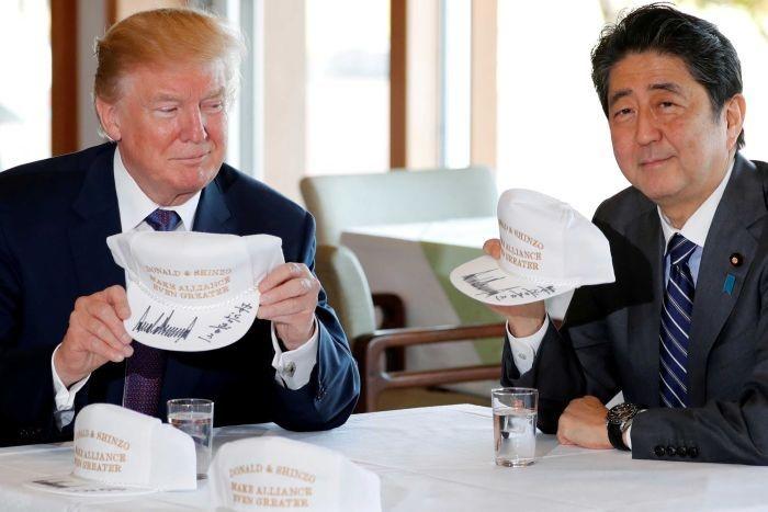 Abe di My: Dat cuoc tuong lai chinh tri vao cuoc gap Trump hinh anh 1
