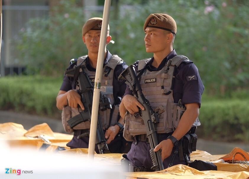 An ninh day dac bao ve khach san noi Kim Jong Un luu tru hinh anh 1