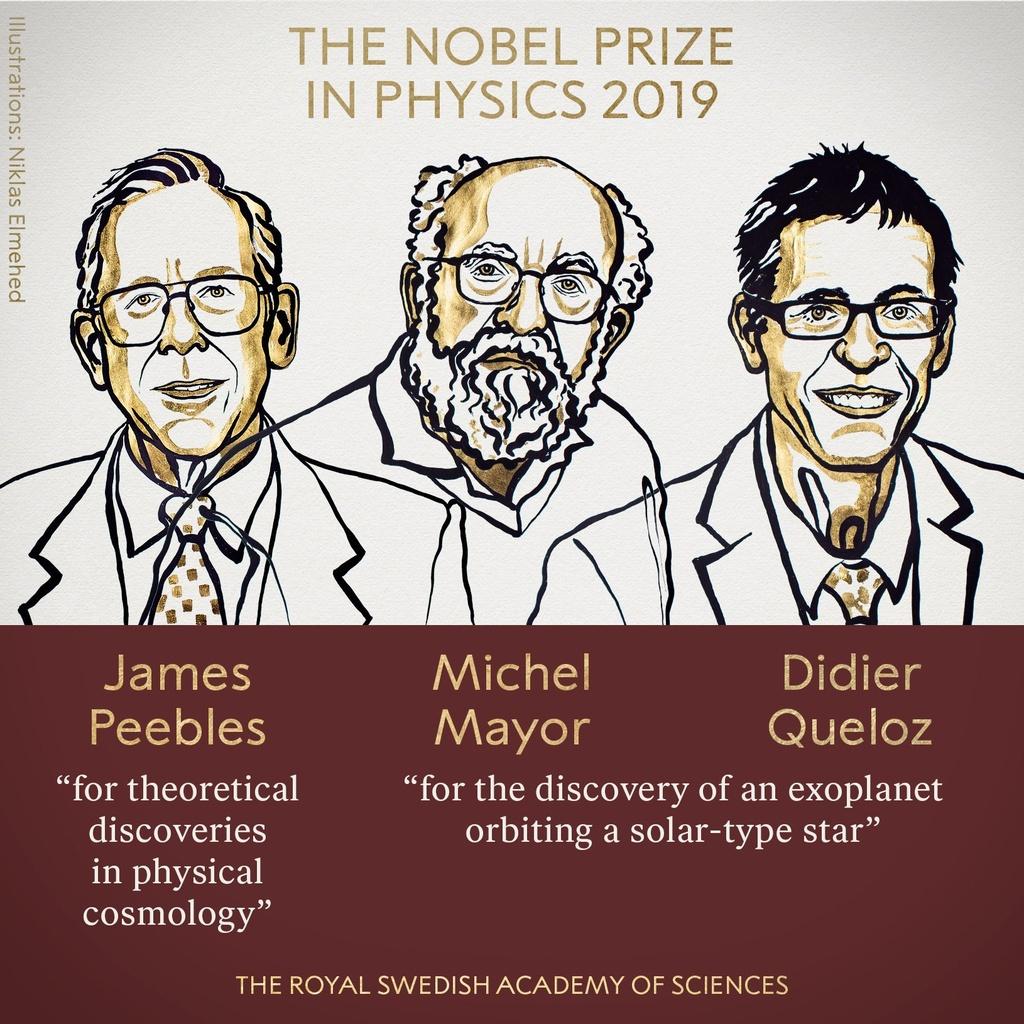 Giai Nobel Vat ly 2019 cho hai nghien cuu ve vu tru hinh anh 1
