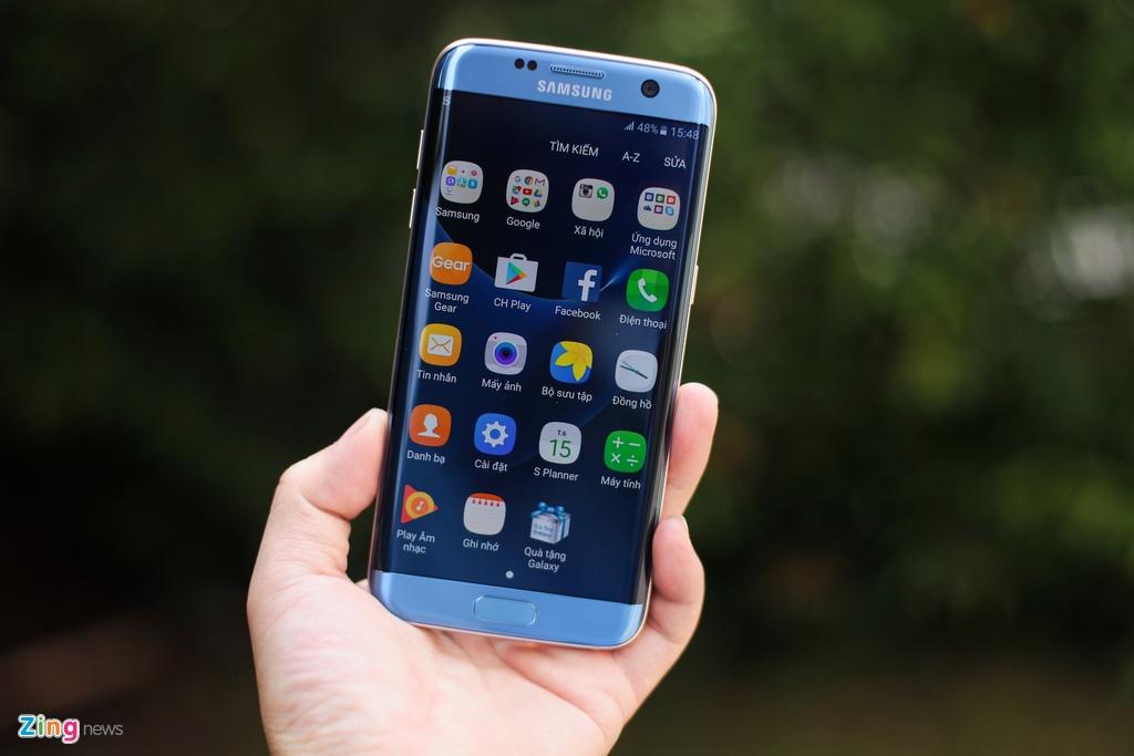 Samsung Galaxy S7 edge Blue Coral anh 12