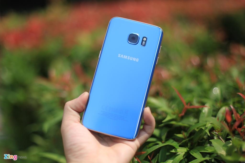 Samsung Galaxy S7 edge Blue Coral anh 4