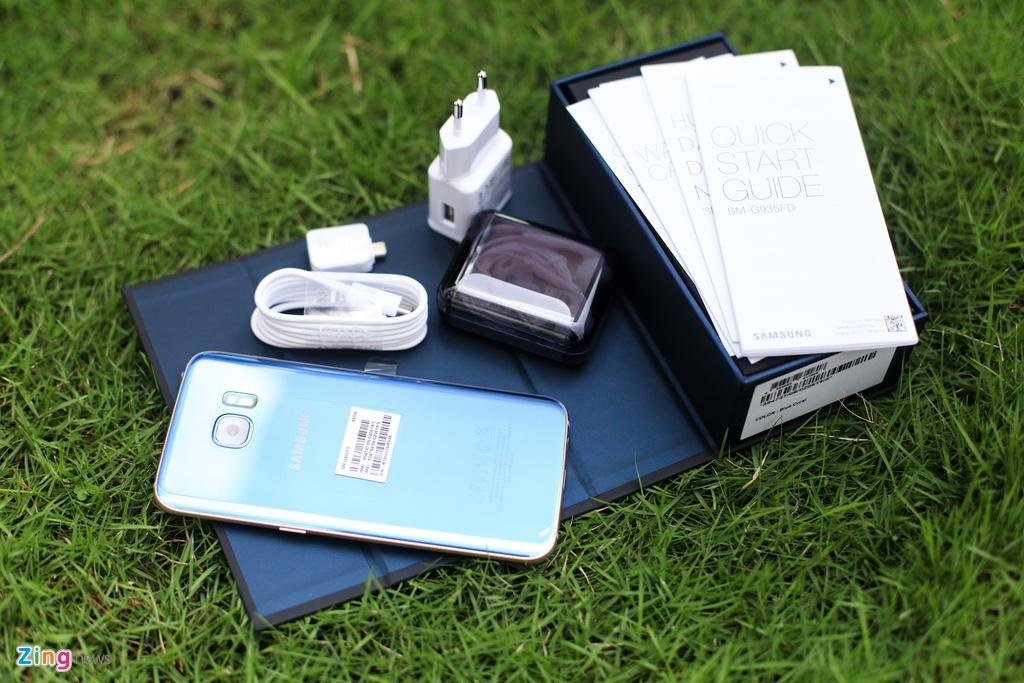 Samsung Galaxy S7 edge Blue Coral anh 2