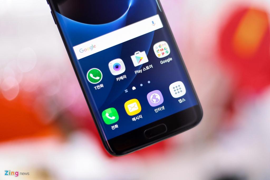 Anh Samsung Galaxy S7 edge mau den bong dau tien tai VN hinh anh 10