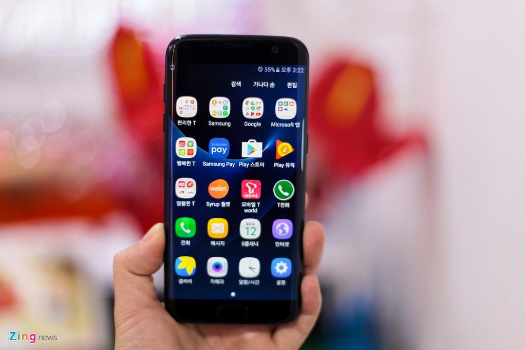 Anh Samsung Galaxy S7 edge mau den bong dau tien tai VN hinh anh 11