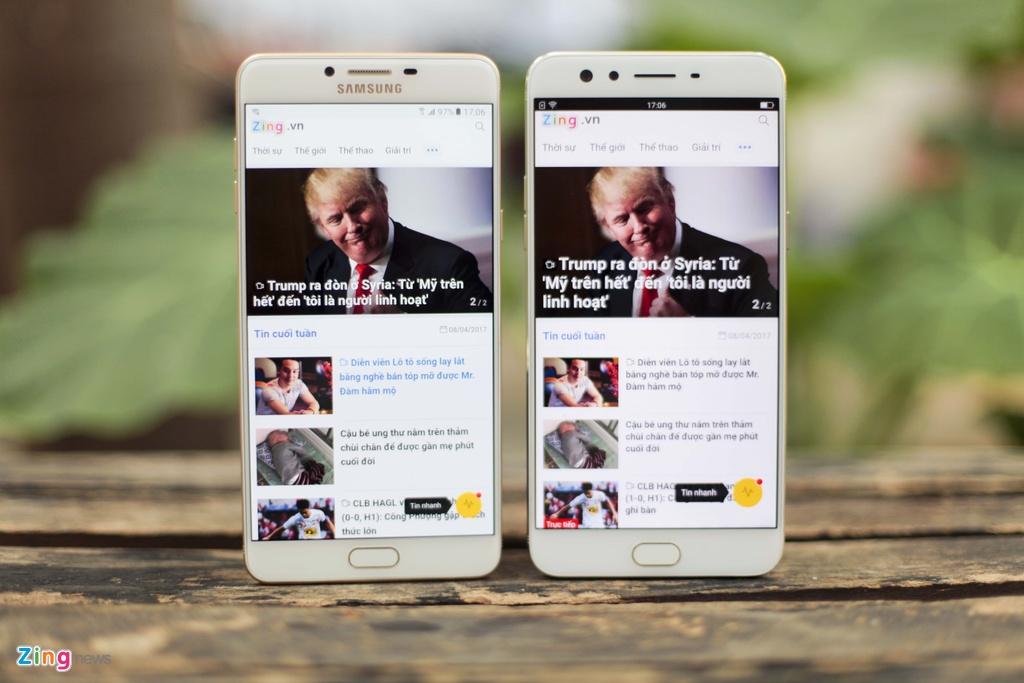 Samsung Galaxy C9 Pro voi Oppo F3 Plus anh 11
