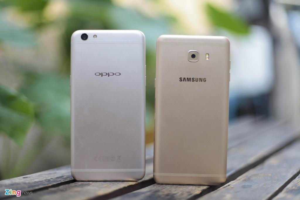 Samsung Galaxy C9 Pro voi Oppo F3 Plus anh 1