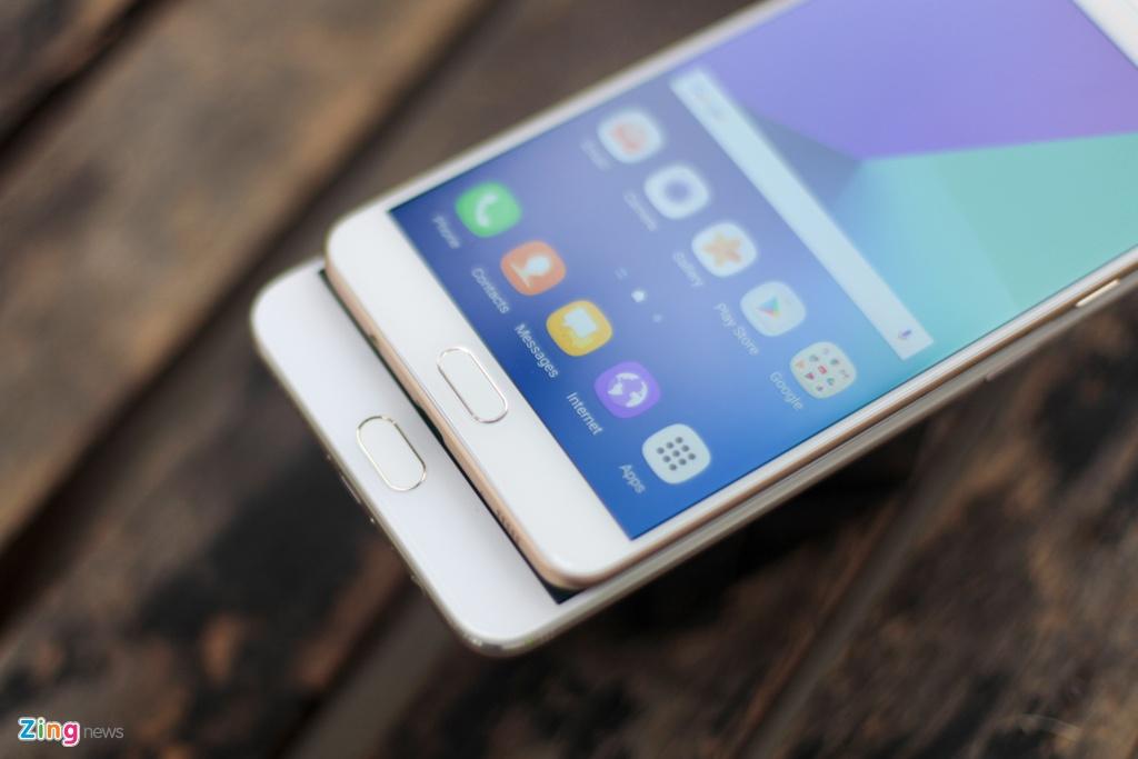 Samsung Galaxy C9 Pro voi Oppo F3 Plus anh 4
