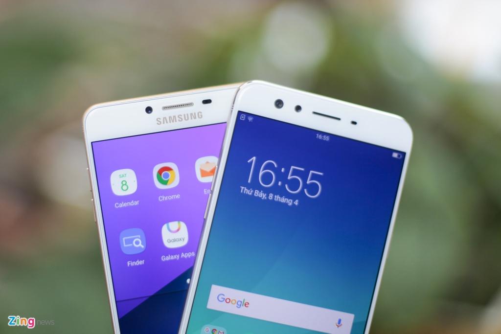 Samsung Galaxy C9 Pro voi Oppo F3 Plus anh 3