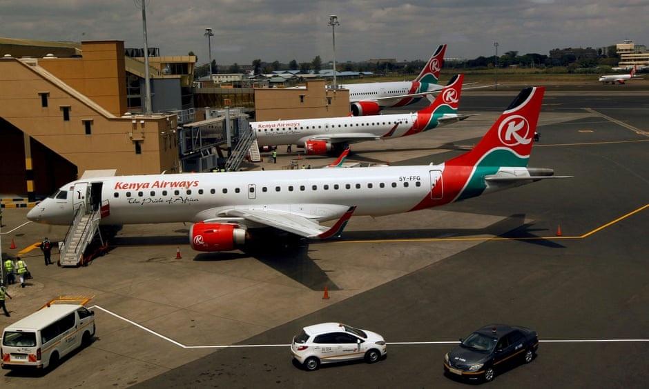 di lau ve,  Kenya Airways,  Heathrow anh 4