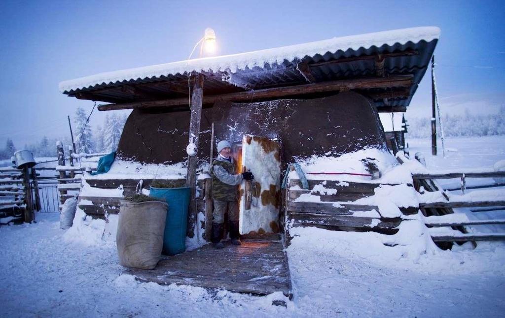 Ngôi làng lạnh nhất thế giới, nhiệt độ chạm âm 71 độ C - Ảnh 12