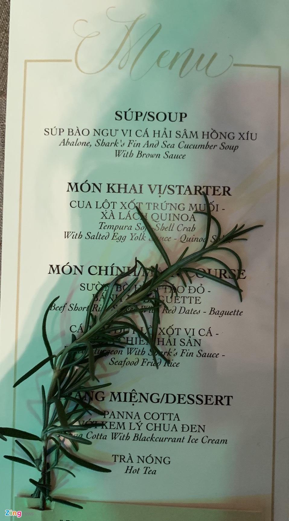 So thuc don trong tiec cuoi cua Cuong Do La, Truong Giang va sao Viet hinh anh 6