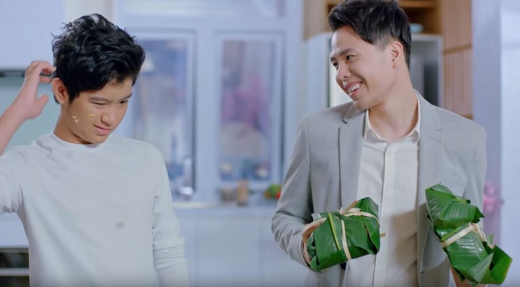 Trinh Thang Binh thoat e, chinh phuc gia dinh ban gai trong clip moi hinh anh 7