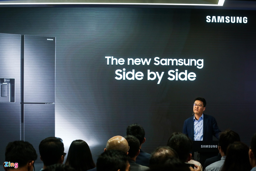 Samsung ra mat the he tu lanh moi voi khung vien mong, lam lanh vom hinh anh 2