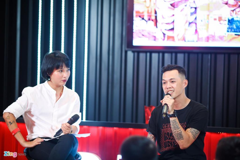 MC Thuy Minh cung gioi tre thao luan soi noi ve graffiti va EDM hinh anh 4