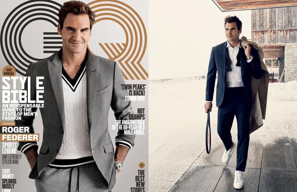 Federer xuat hien goi cam tren tap chi thoi trang hinh anh 1