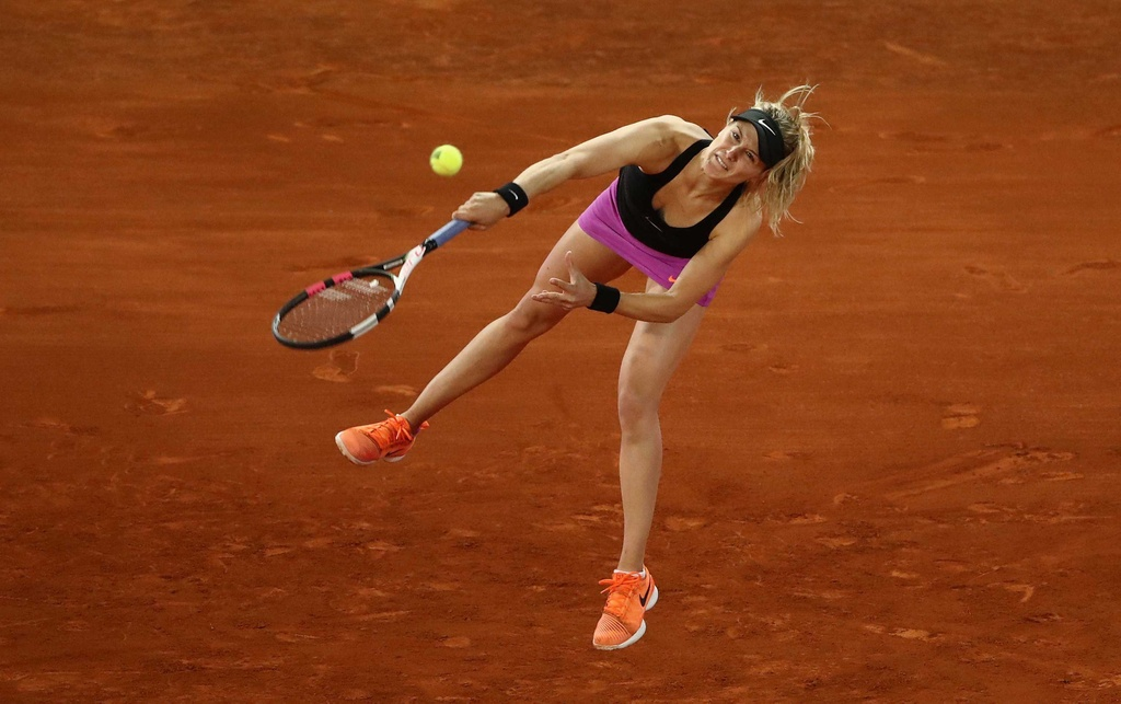 Sharapova that bai trong cuoc chien voi Bouchard hinh anh 4