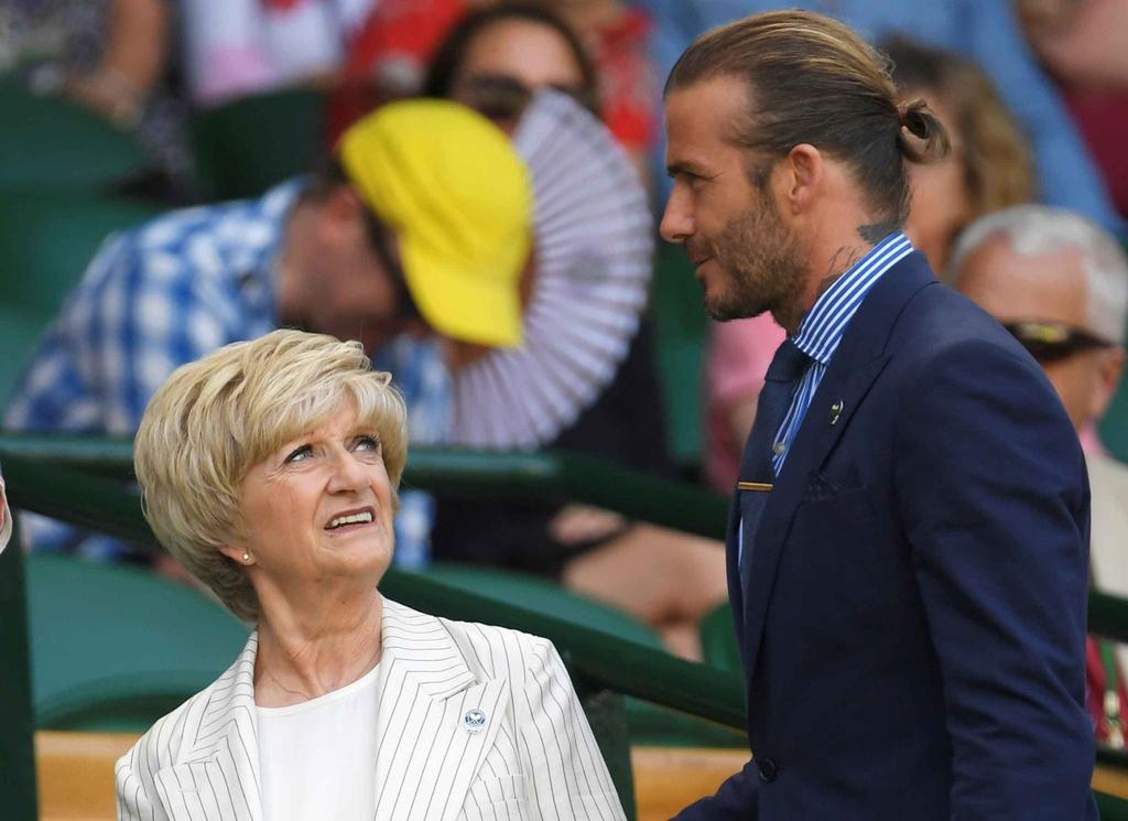 Beckham dua me den san co vu Murray anh 1