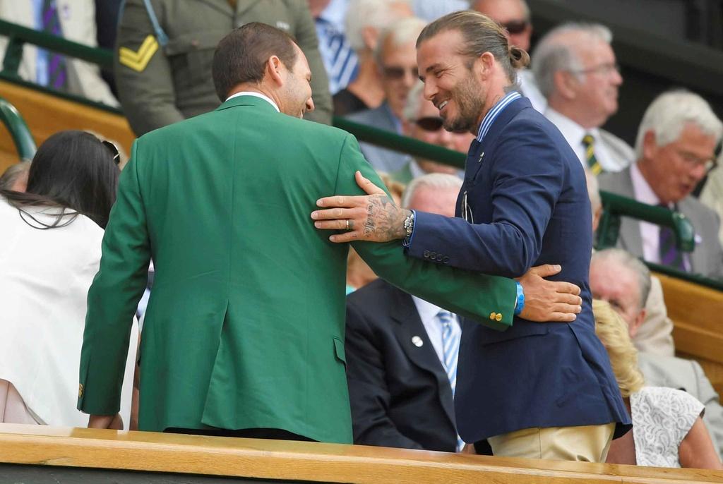 Beckham dua me den san co vu Murray anh 4