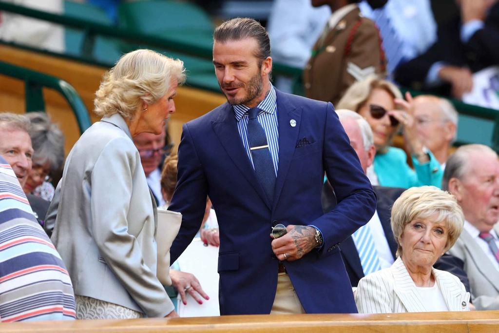 Beckham dua me den san co vu Murray anh 2
