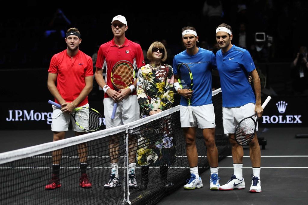 Federer, Nadal thang nhoc nhan trong lan dau danh cap hinh anh 4