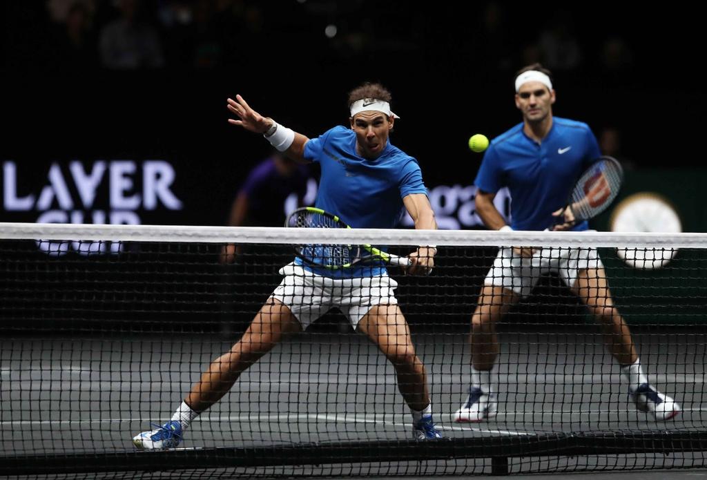 Federer, Nadal thang nhoc nhan trong lan dau danh cap hinh anh 5
