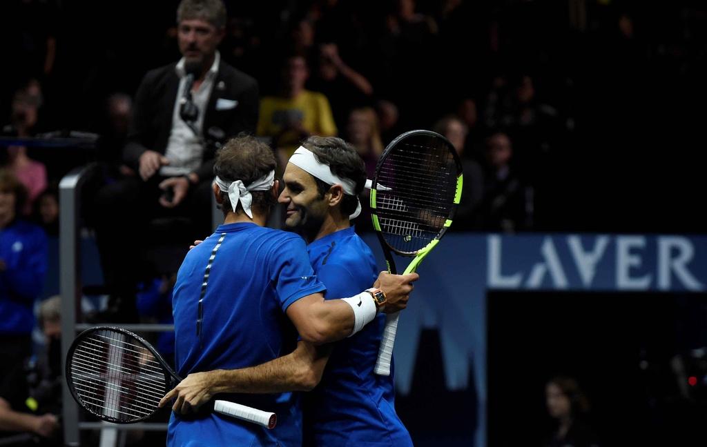Federer, Nadal thang nhoc nhan trong lan dau danh cap hinh anh 9