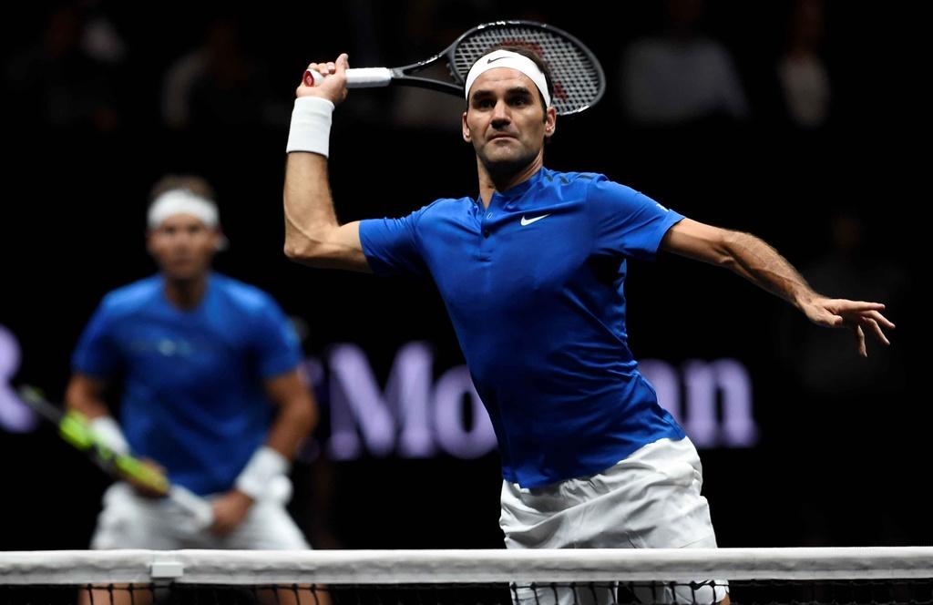 Federer, Nadal thang nhoc nhan trong lan dau danh cap hinh anh 8