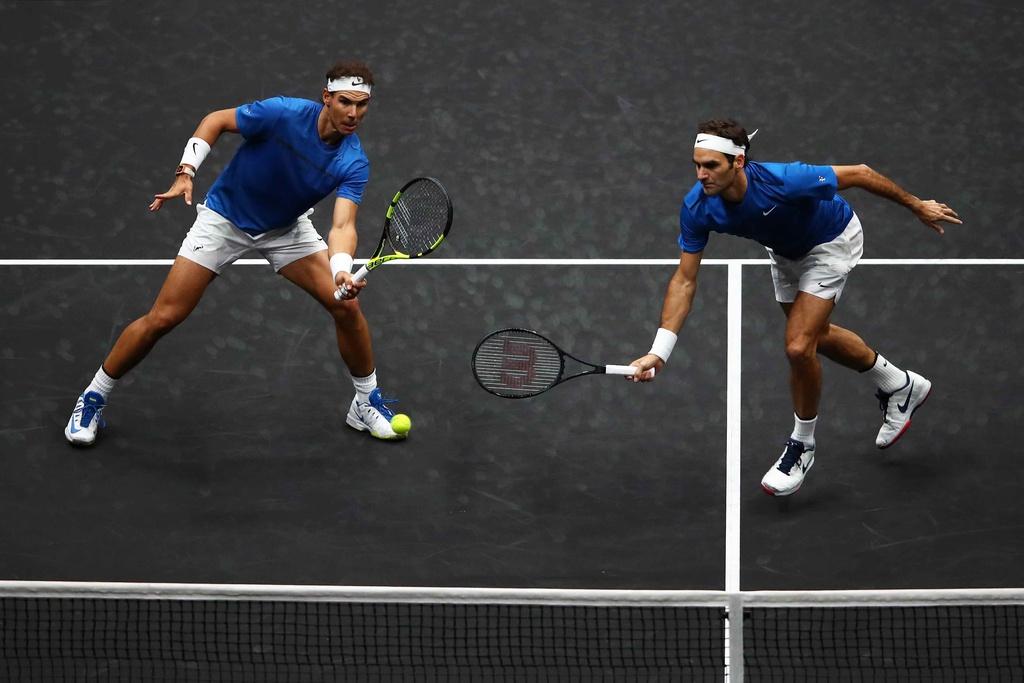 Federer, Nadal thang nhoc nhan trong lan dau danh cap hinh anh 7