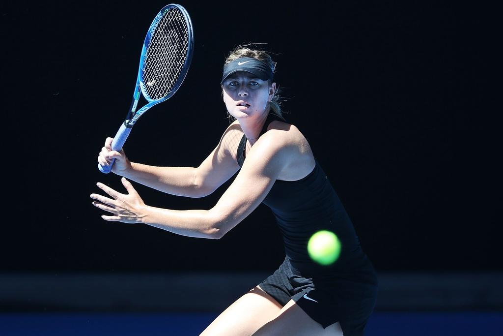 Sharapova hang say tap luyen cho tai xuat Australian Open hinh anh 1
