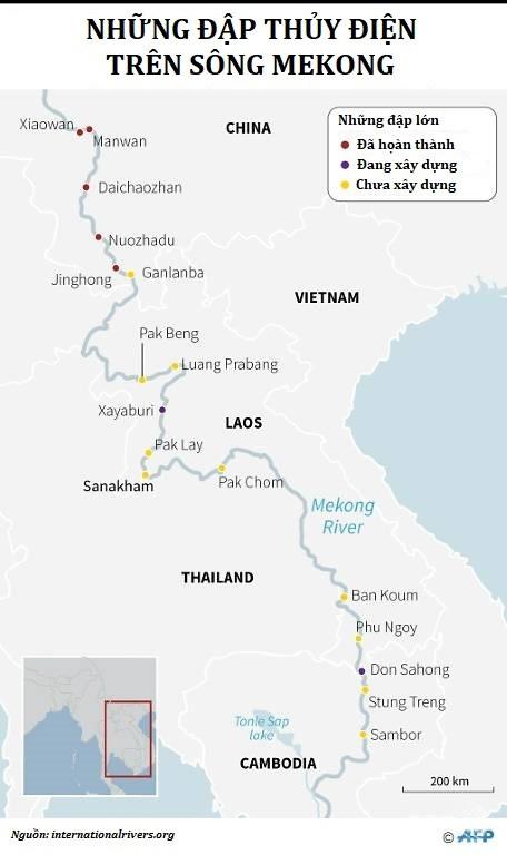 dap thuy dien tren song Mekong anh 1