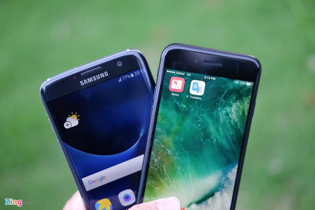 Phien ban mau den cua Galaxy S7 edge va iPhone 7 do dang hinh anh 7