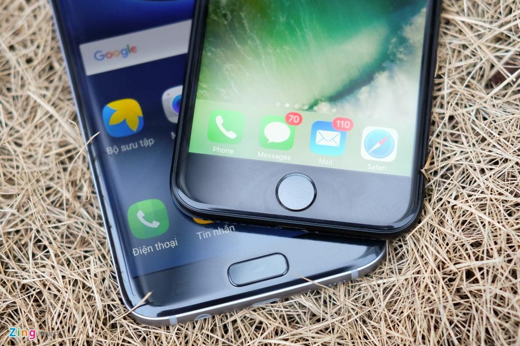 Phien ban mau den cua Galaxy S7 edge va iPhone 7 do dang hinh anh 8