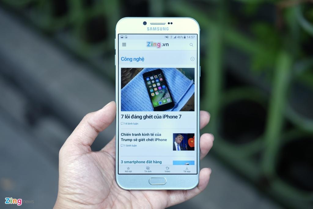Galaxy A8 2016 xanh ngoc xach tay ve VN, gia 9 trieu dong hinh anh 12