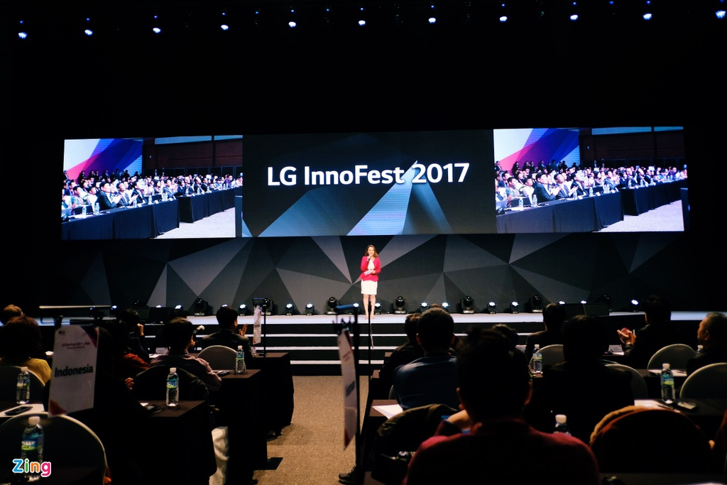 LG G6, TV OLED dan tuong, tu lanh dung Windows 10 tai InnoFest 2017 hinh anh 1