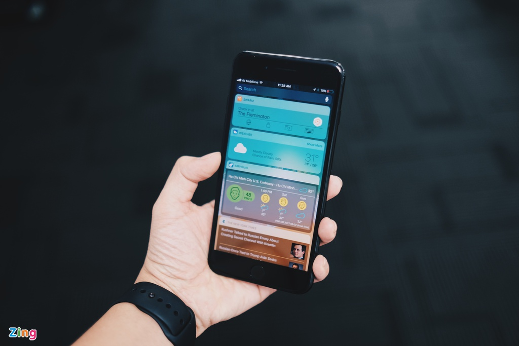 iOS 11 tren iPhone 7 Plus anh 2