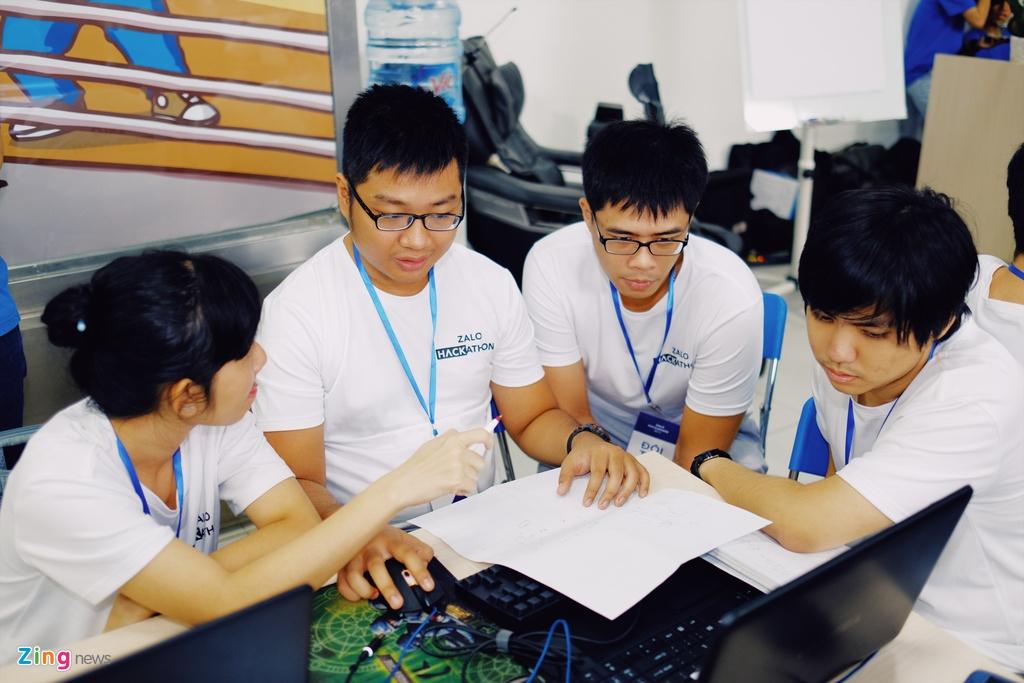 Chung ket Zalo Hackathon 2017 dang dien ra o Sai Gon hinh anh 5