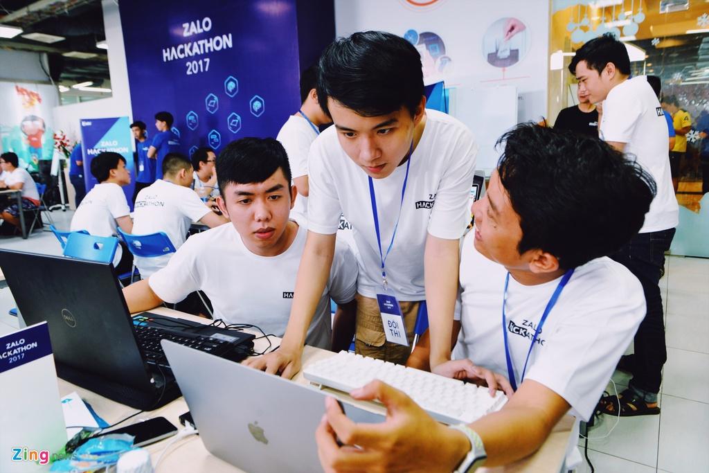 Chung ket Zalo Hackathon 2017 dang dien ra o Sai Gon hinh anh 15