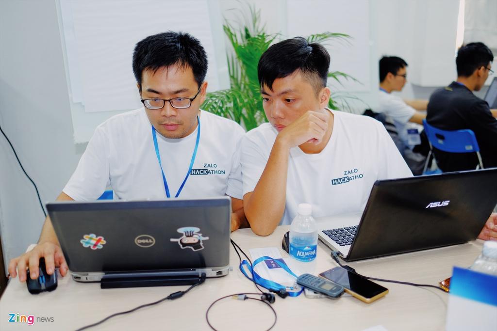 Chung ket Zalo Hackathon 2017 dang dien ra o Sai Gon hinh anh 8