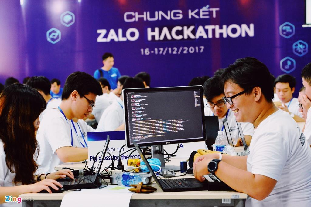 Chung ket Zalo Hackathon 2017 dang dien ra o Sai Gon hinh anh 11