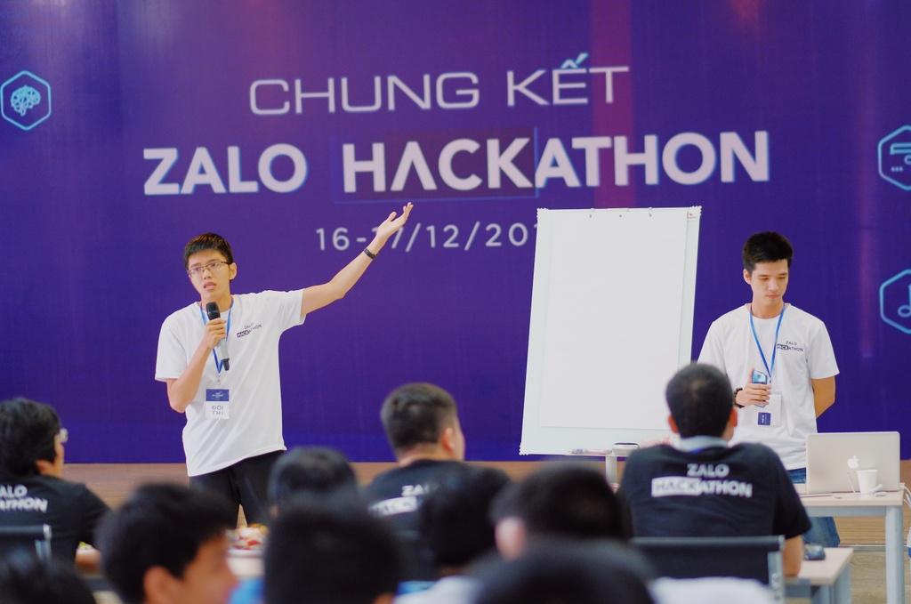 Ung dung chong beo phi gianh quan quan Zalo Hackathon 2017 hinh anh 3