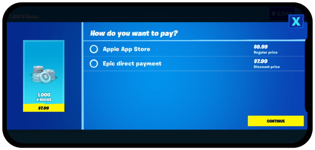 Apple luon leo khi go Fortnite khoi App Store anh 2