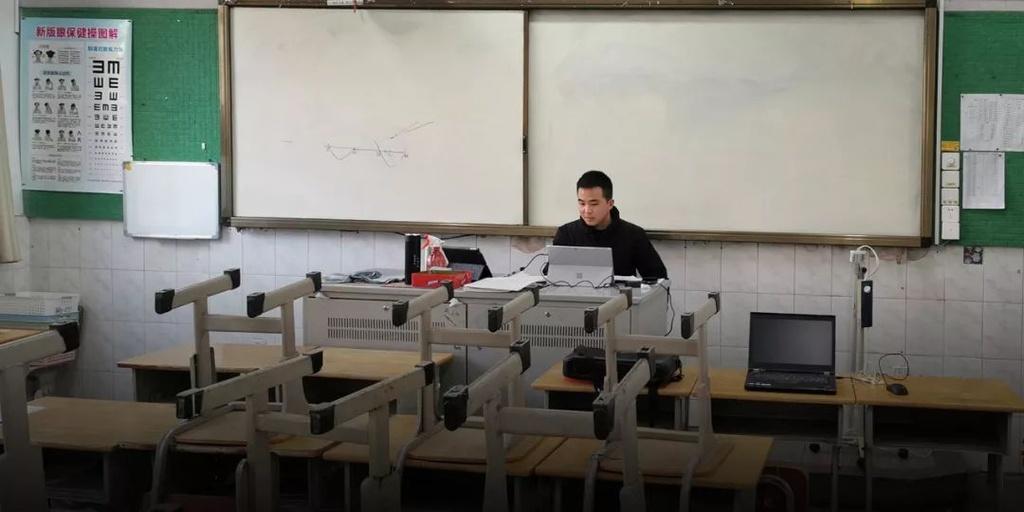 O nha vi corona, hoc sinh Trung Quoc van phai ngay dem on thi dai hoc hinh anh 4 640.jpg