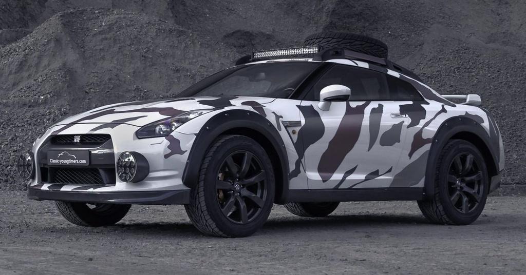 Nissan GT-R Godzilla 2.0 do off-road 600 ma luc anh 1