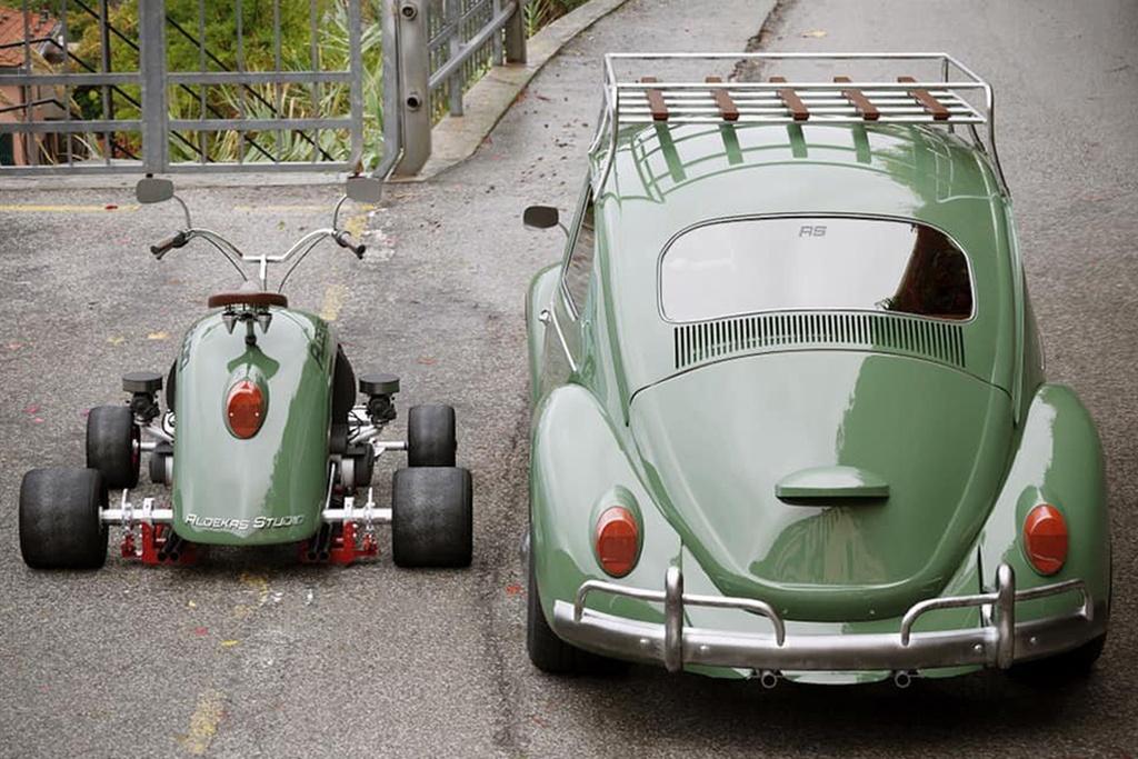 Xe 4 banh lam tu tam chan bun cua Volkswagen Beetle anh 3
