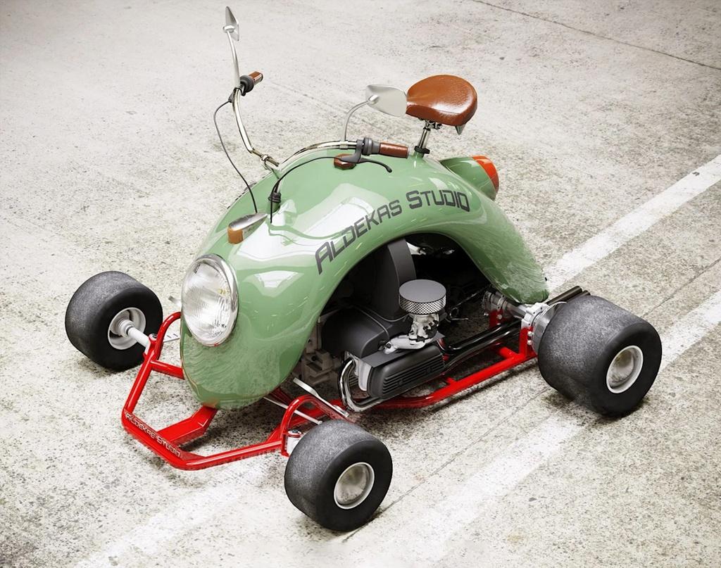 Xe 4 banh lam tu tam chan bun cua Volkswagen Beetle anh 10