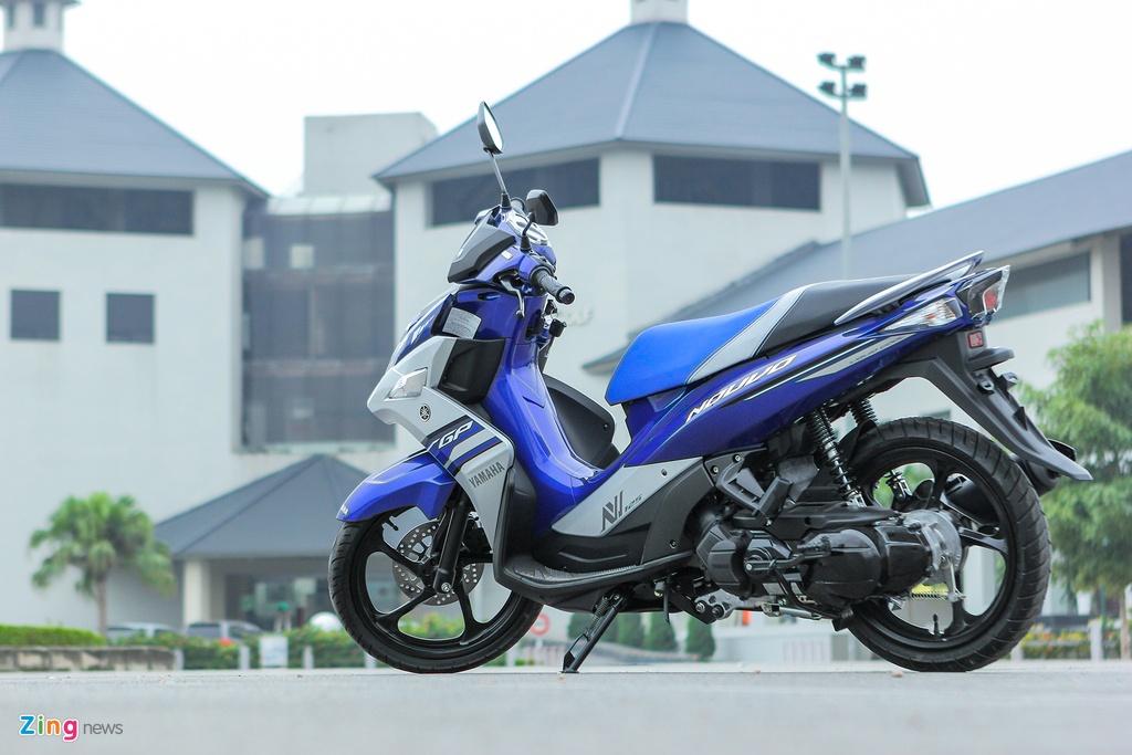 Can canh Yamaha Nouvo GP 2016 voi bo tem moi hinh anh 13 Nouvo Fi được trang bị động cơ 4 thì, 125 phân khối, xi-lanh đơn, 2 van, làm mát bằng dung dịch, công suất 7,8 kW tại 8.000 vòng/phút và mô-men xoắn cực đại 10,5 Nm tại 6.000 vòng/phút, tích hợp hệ thống phun xăng điện tử YMJET-Fi.
