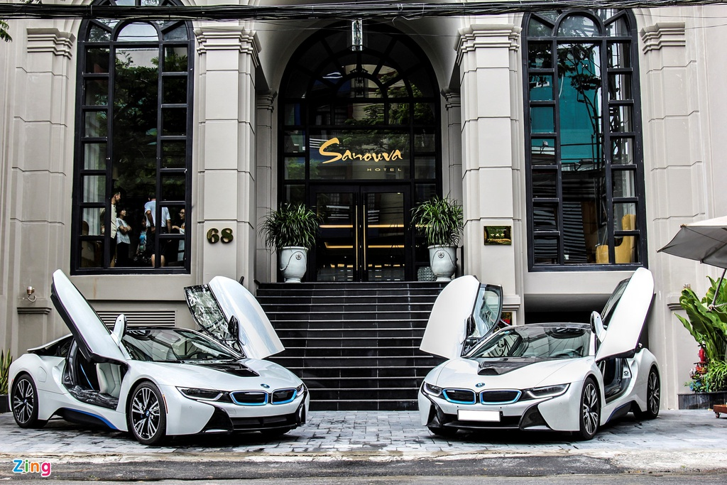 Anh dep xe the thao 7 ty BMW i8 tren duong pho Viet Nam hinh anh 1