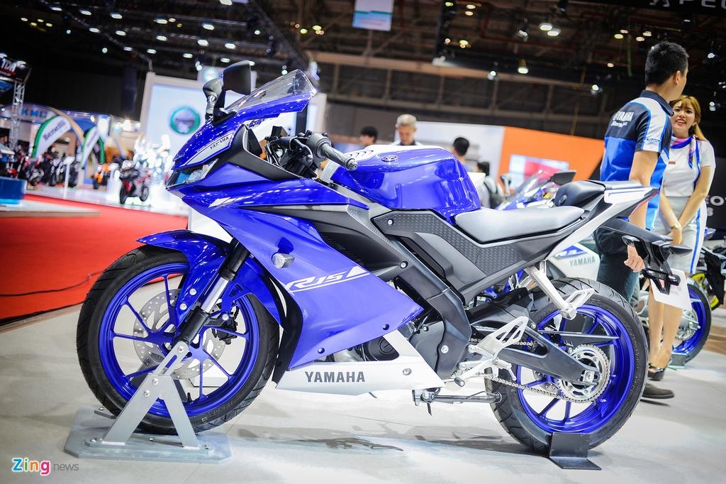Yamaha YZF-R15 2017 tai VN co den pha LED, dong ho dien tu hinh anh 2