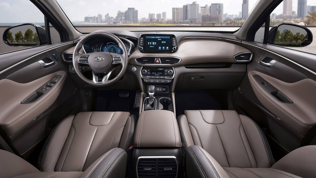 Hyundai Santa Fe 2019 lot xac hoan toan hinh anh 7